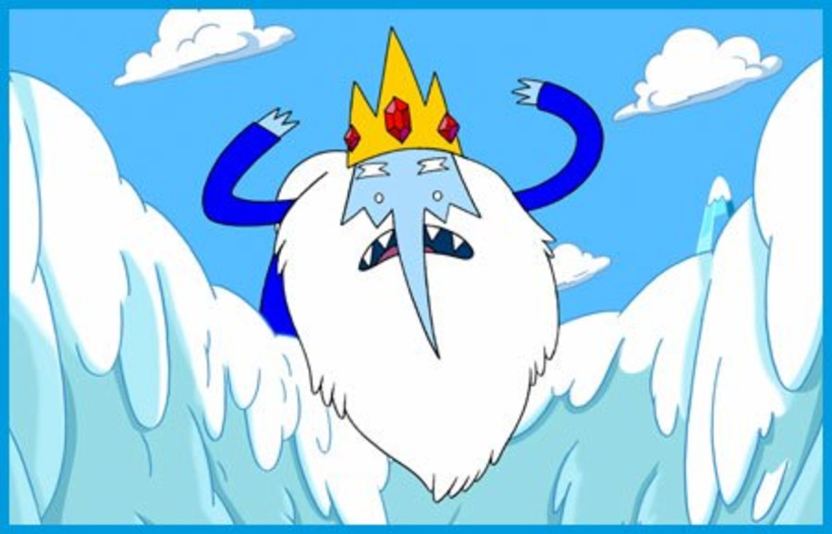 The Ice King a wizard from Adventure Time.