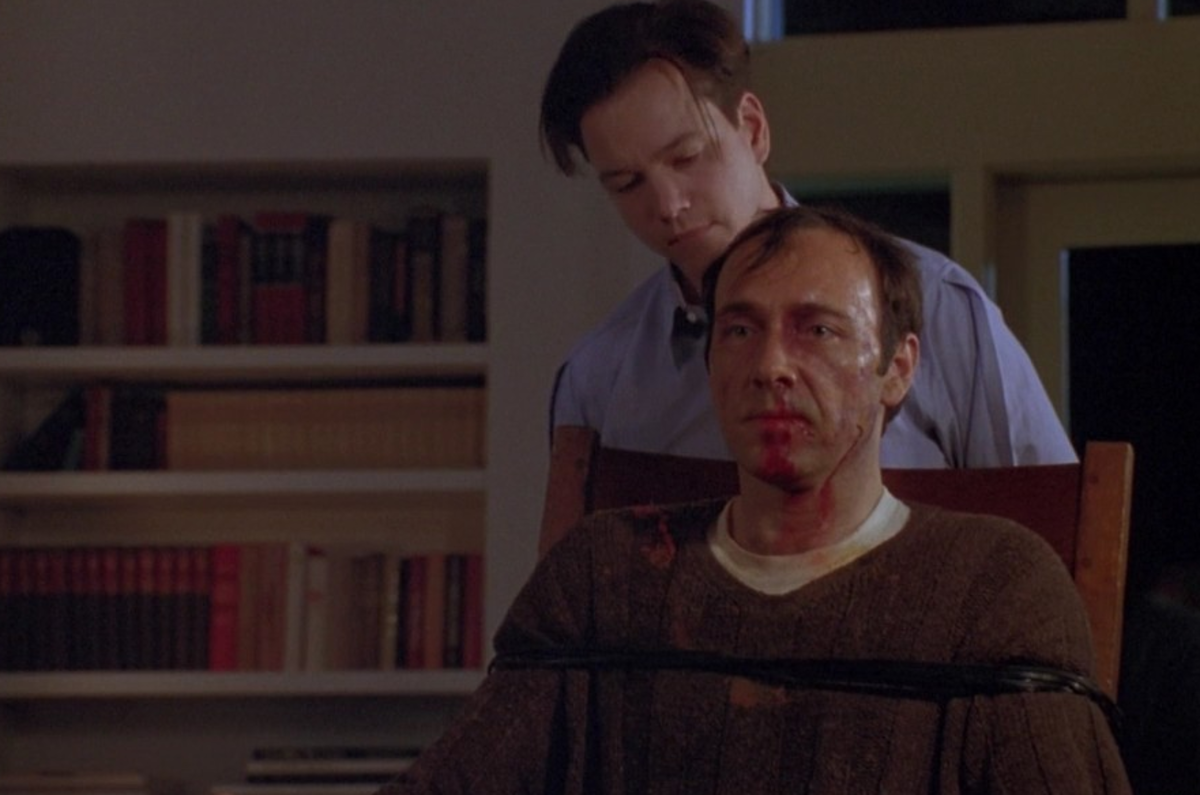 The tables have turned as Guy (Frank Whaley) lets his sadistic side show, and Buddy (Kevin Spacey) reveals a sliver or vulnerability.