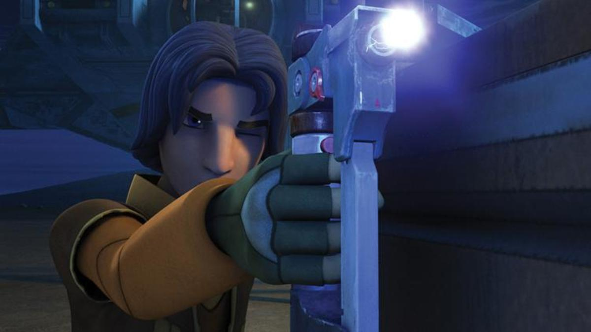 Ezra's lightsaber pistol