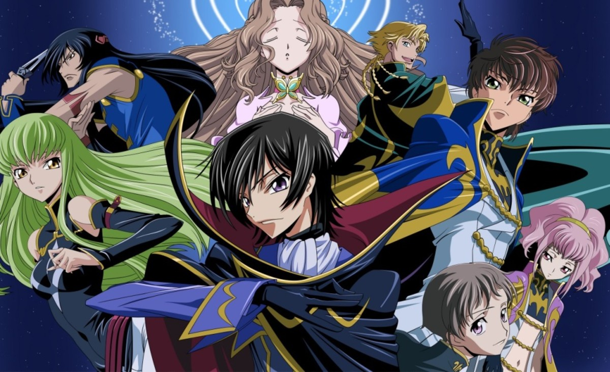 Code Geass features political intrigue as well as battles with mechs.