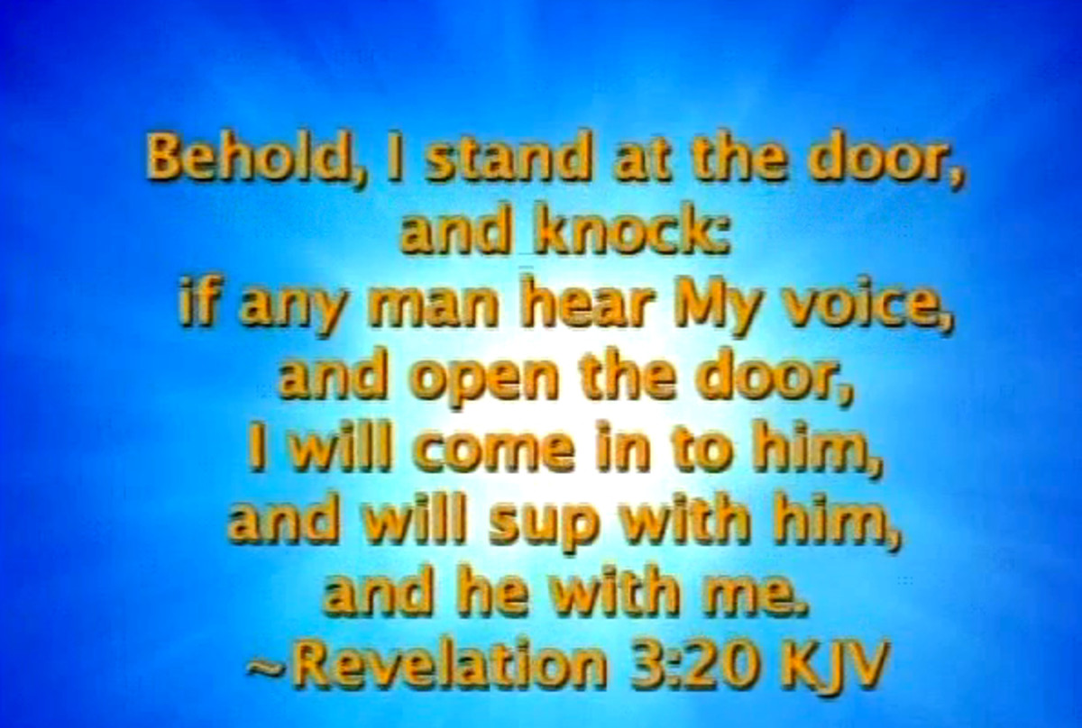 Revelation 3:20, from the Holy Bible, indicates that God wants to have fellowship with and wants to speak to mankind.