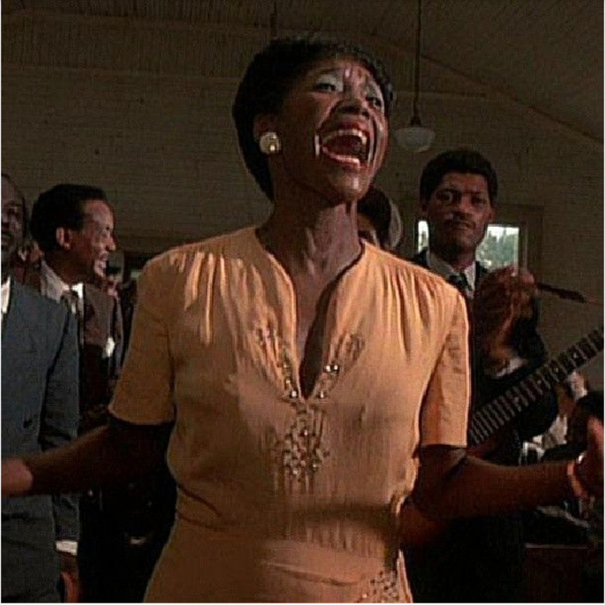In a dynamic scene near the end of Steven Spielberg's 1985 winter blockbuster The Color Purple, the character Shug Avery engages in a soul stirring rendition of a gospel song called God Is Trying To Tell You Something.
