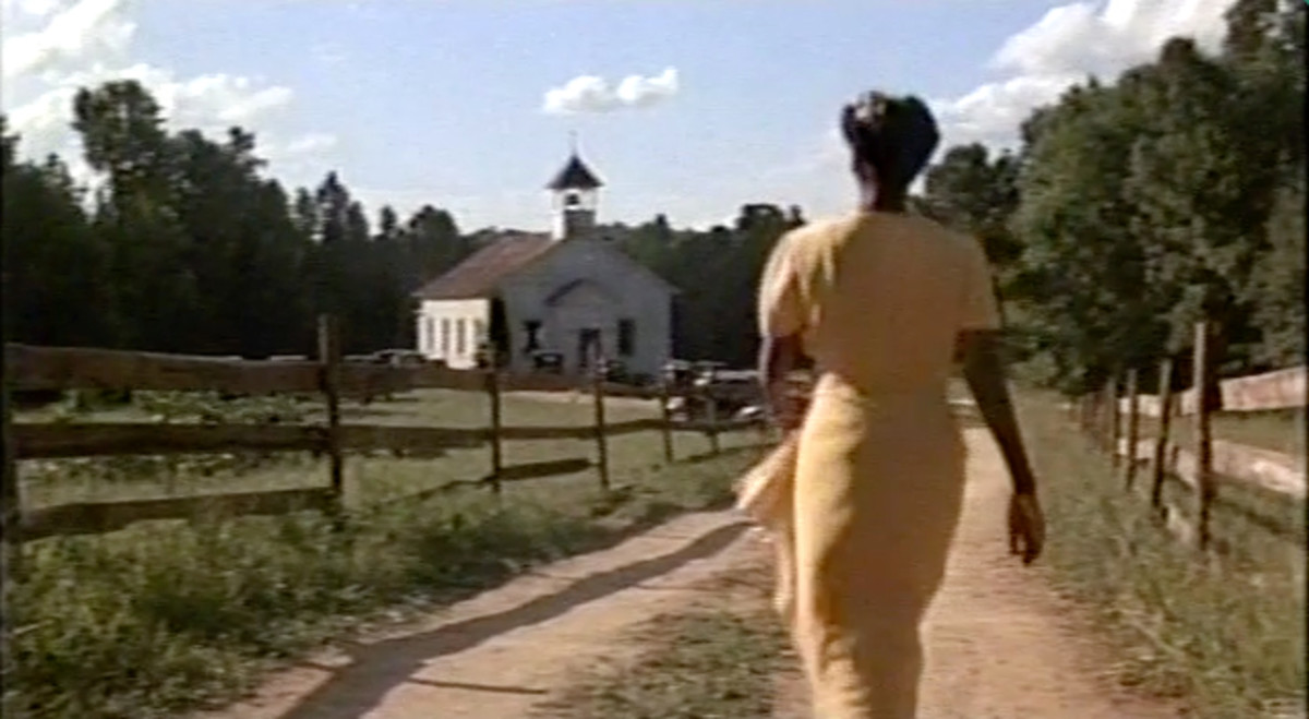 "Shug cannot help from being drawn to her father's nearby church, from where the anointed song ""God is Trying To Tell You Something"" is emanating."