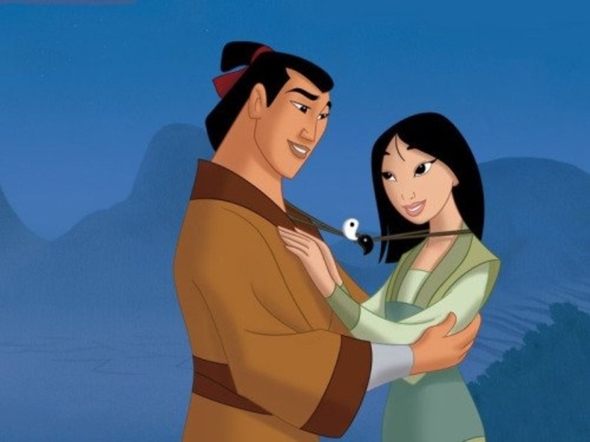 Mulan's half of the Yin Yang necklace she shares with Shang is the Yang side, which represents masculinity.