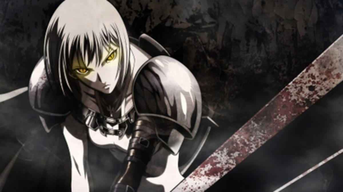 "In the Claymore anime, the claymores or ""silver-eyed"" witches have eyes that change color when they use their mysterious magical energy in battle."