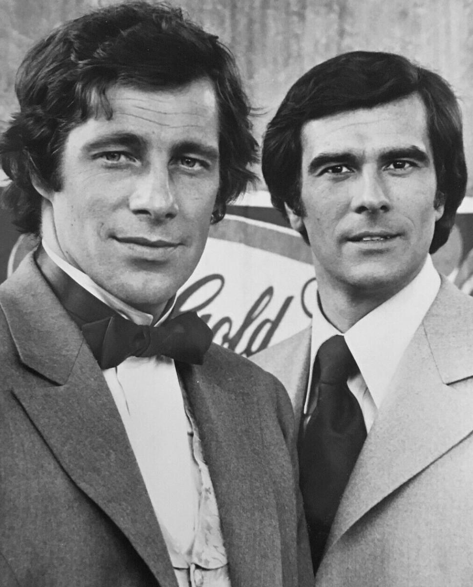 Sam Groom (left) with Tom Hallick