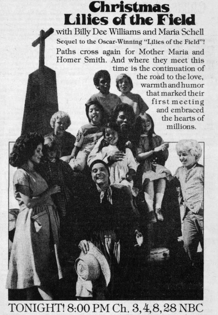 Vintage newspaper ad for the TV movie