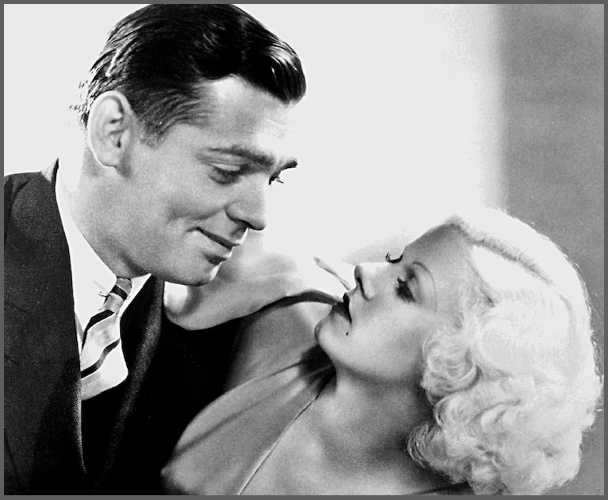 Clark Gable made six pictures with the lovely Jean Harlow in the 1930s.  Many biographers claim the sex symbol was on Gable's list of conquests.