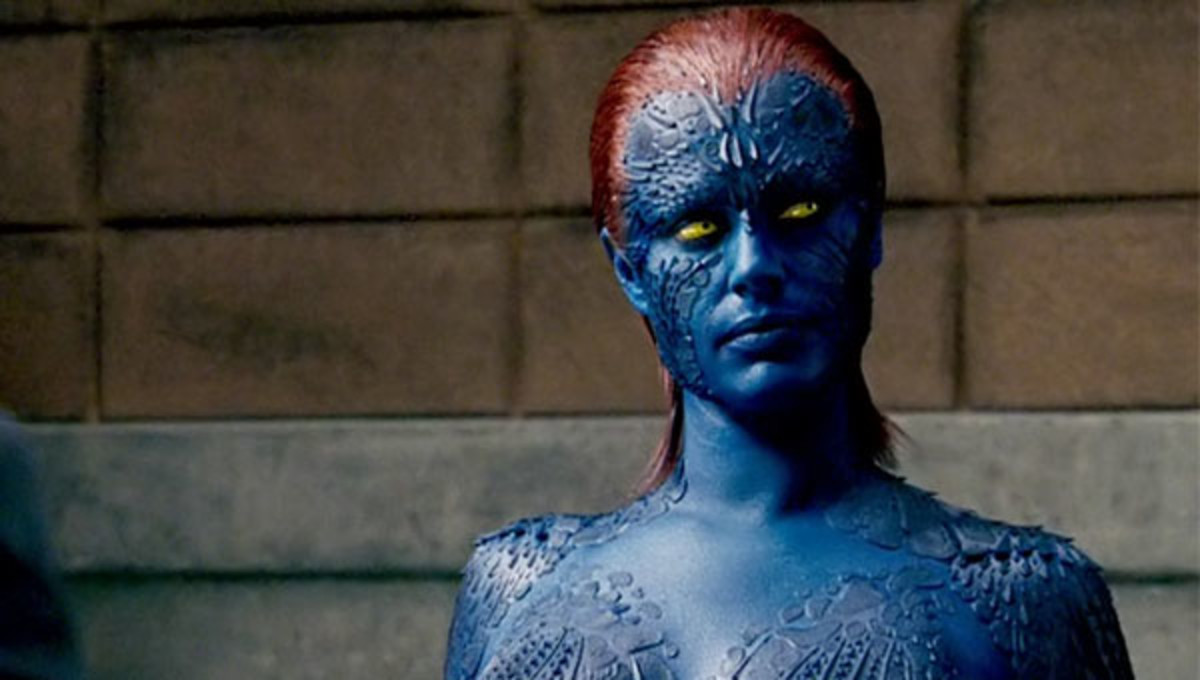 Mystique played by Rebecca Romijn.