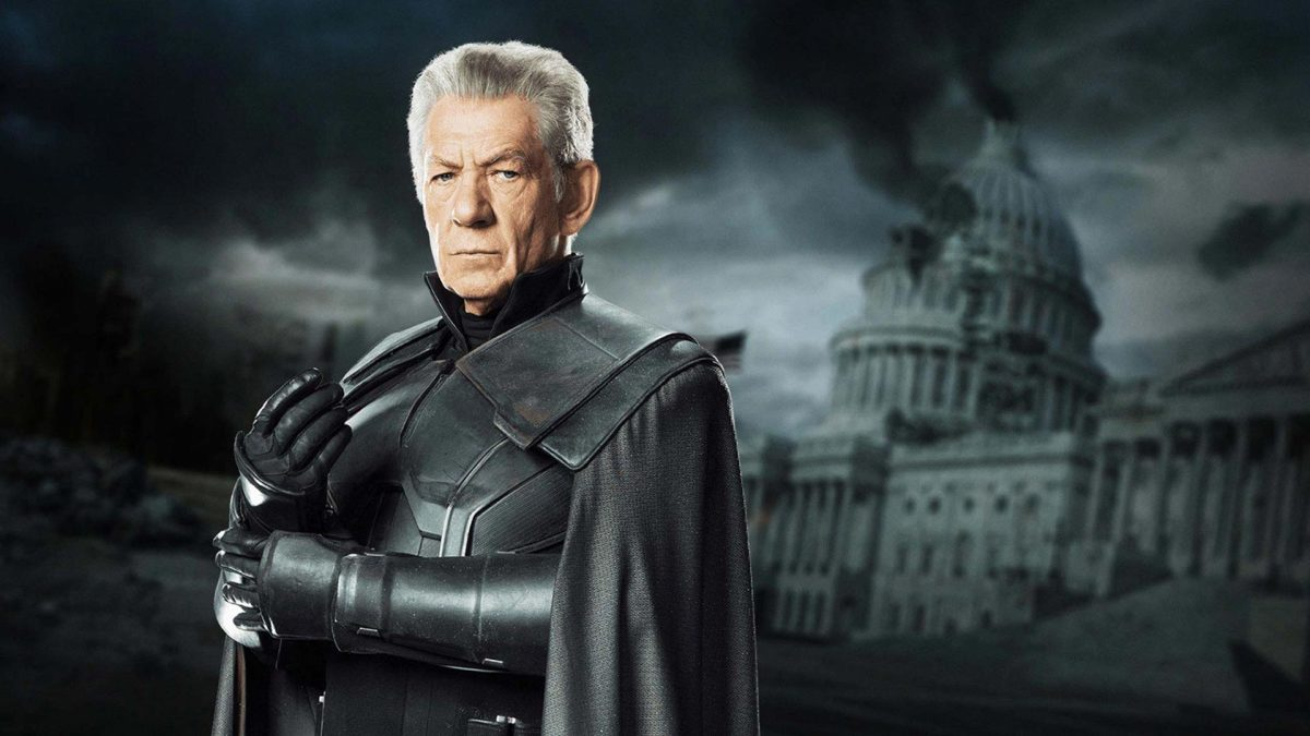 Old Magneto played by Ian McKellen.