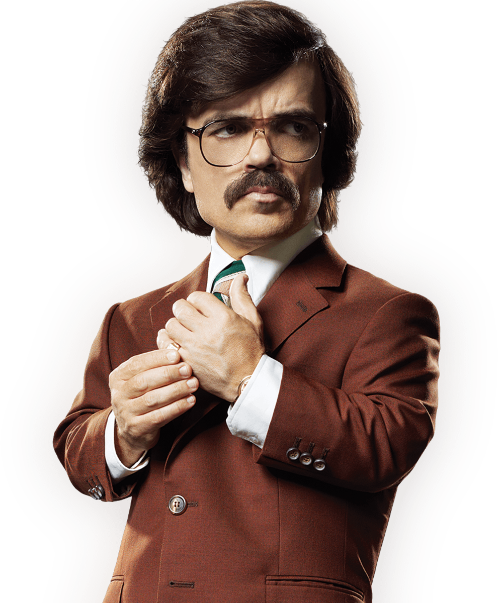 Peter Dinklage playing Bolivar Trask.