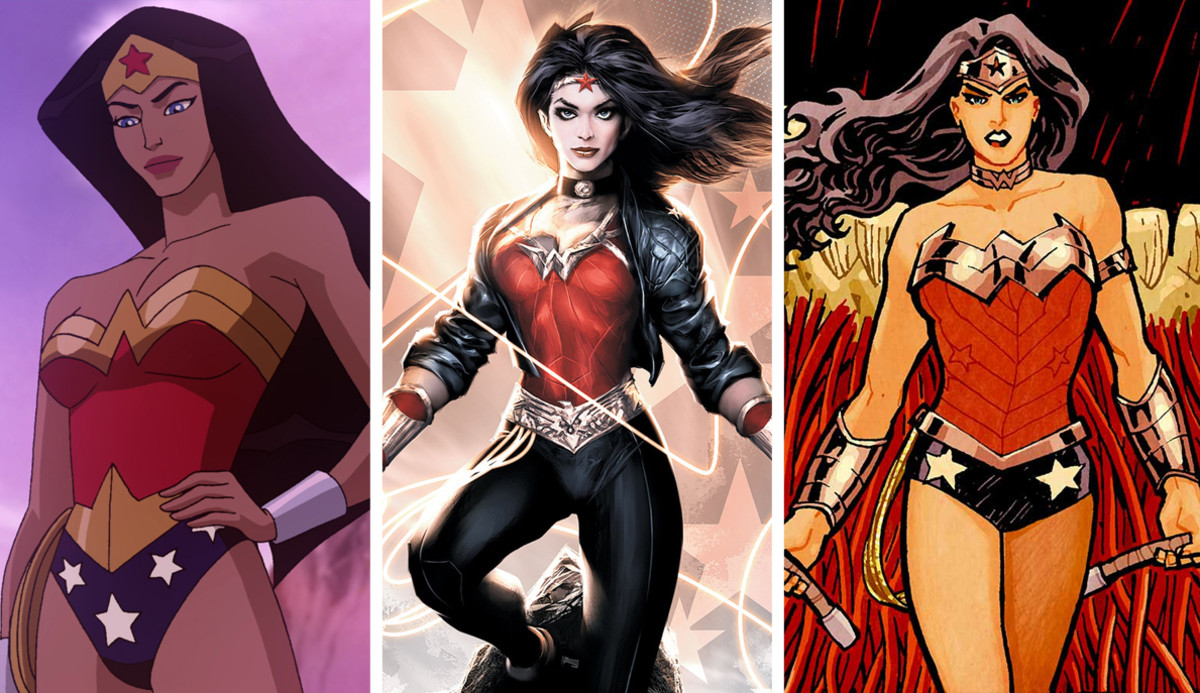 Wonder Woman 2009 (left), Odyssey 2012 (center), New-52 2013 (right). Wonder Woman is the property of DC Entertainment. All rights reserved.