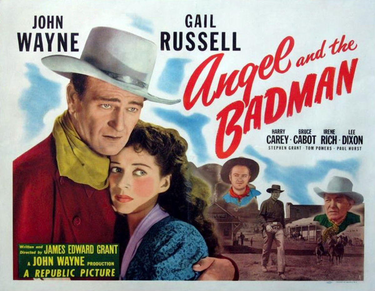 "This poster for the film ""Angel and the Badman"" is in public domain."