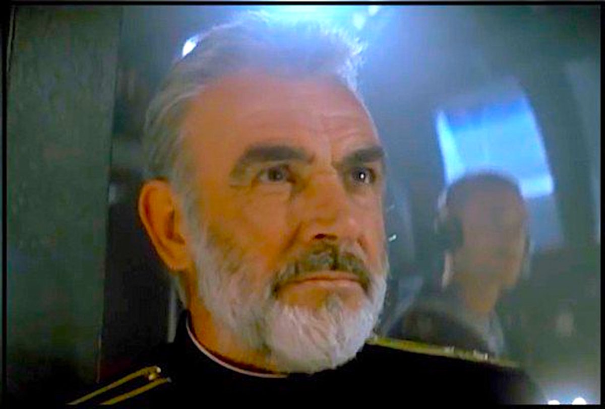 Sean Connery played a Russian submarine commander in The Hunt For Red October.  In real life he served as a sailor for the British Royal Navy.