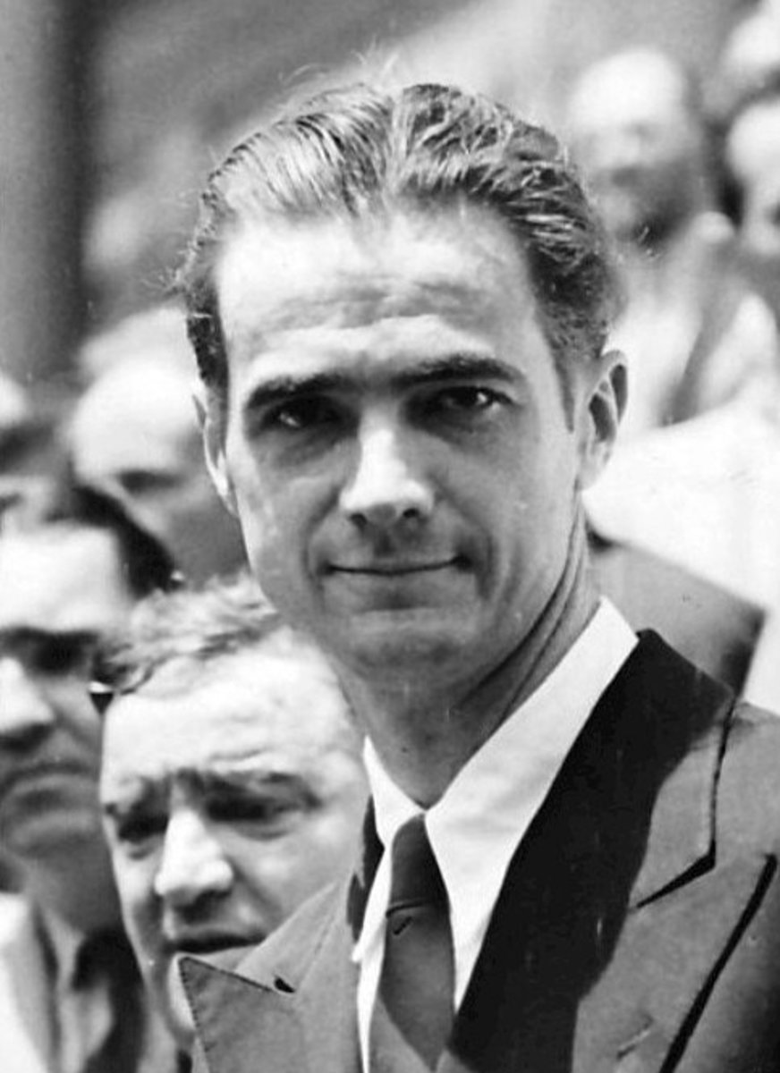 Howard Hughes was romancing Olivia de Havilland when he made a pass at her sister Joan.  His womanizing was well known in Hollywood, and Olivia quickly moved on.