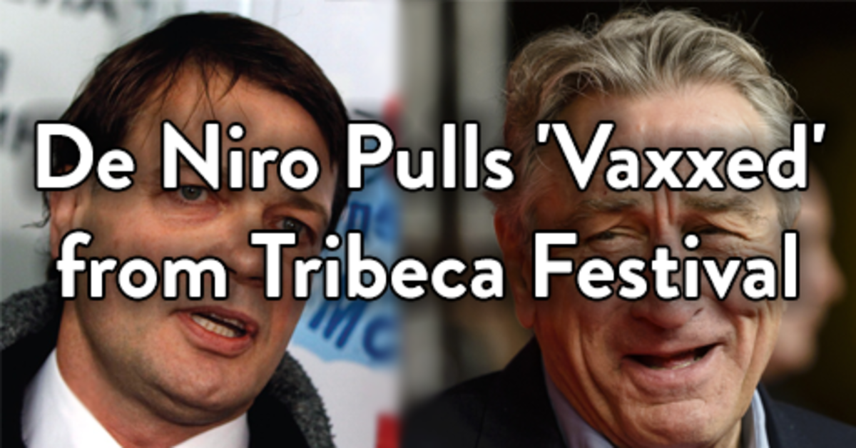 One day after strongly defending Vaxxed it is removed from the Tribeca Film festival
