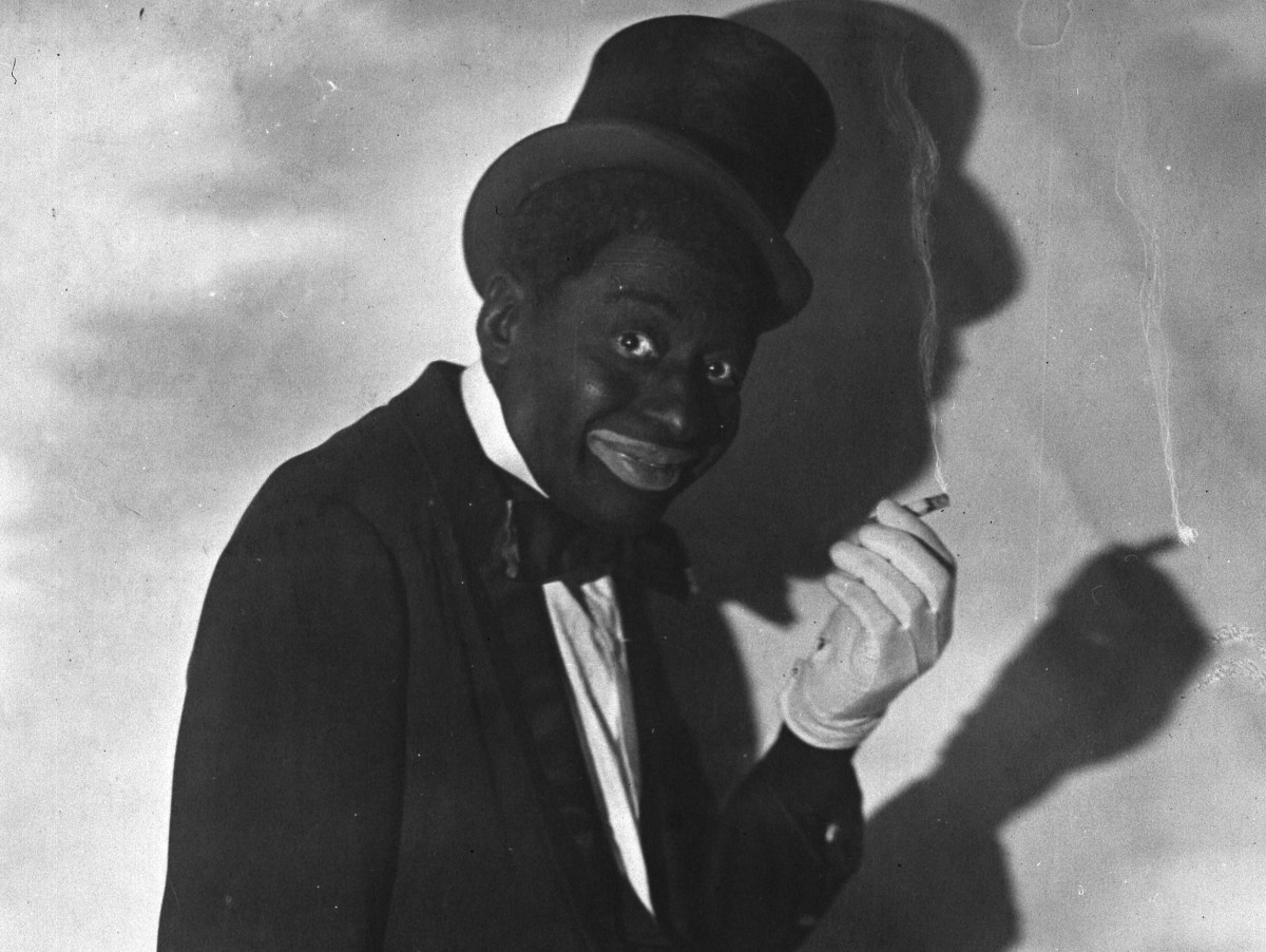 Vaudevillian Bert Williams in blackface