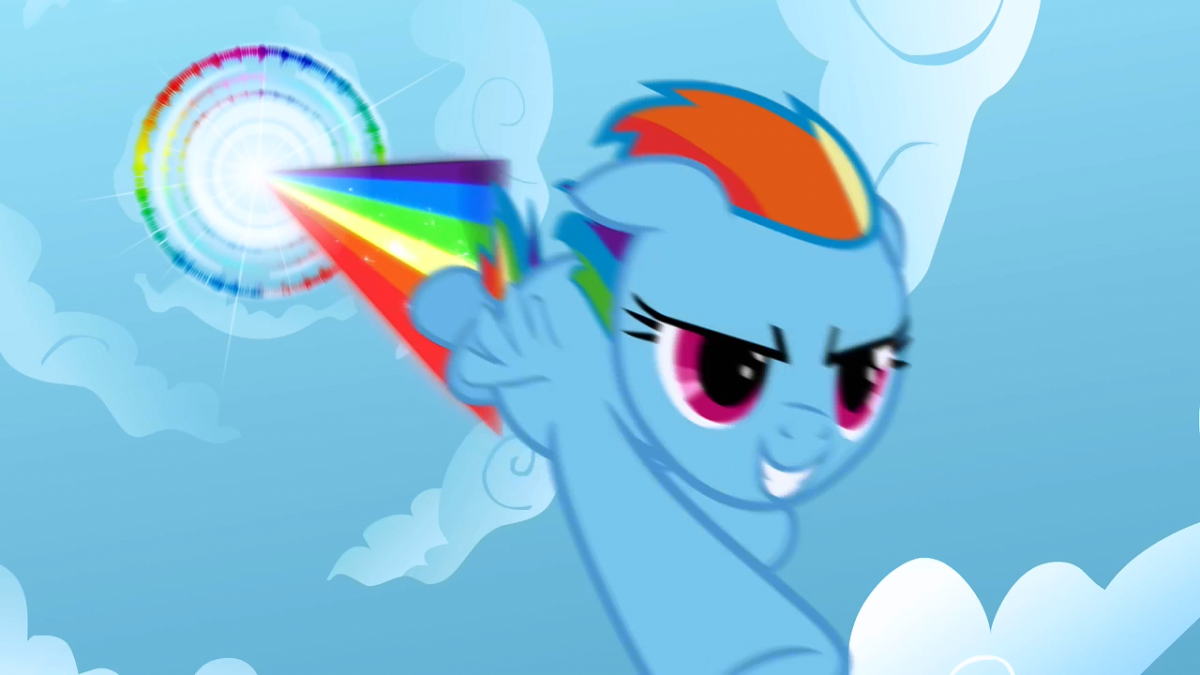 The Sonic Rainboom. Awesome.