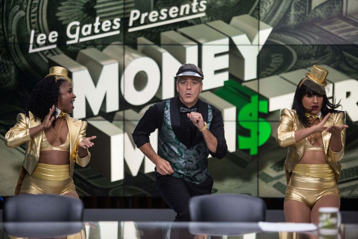 Clooney is genuinely funny as Lee Gates, the host of financial TV show Money Monster.