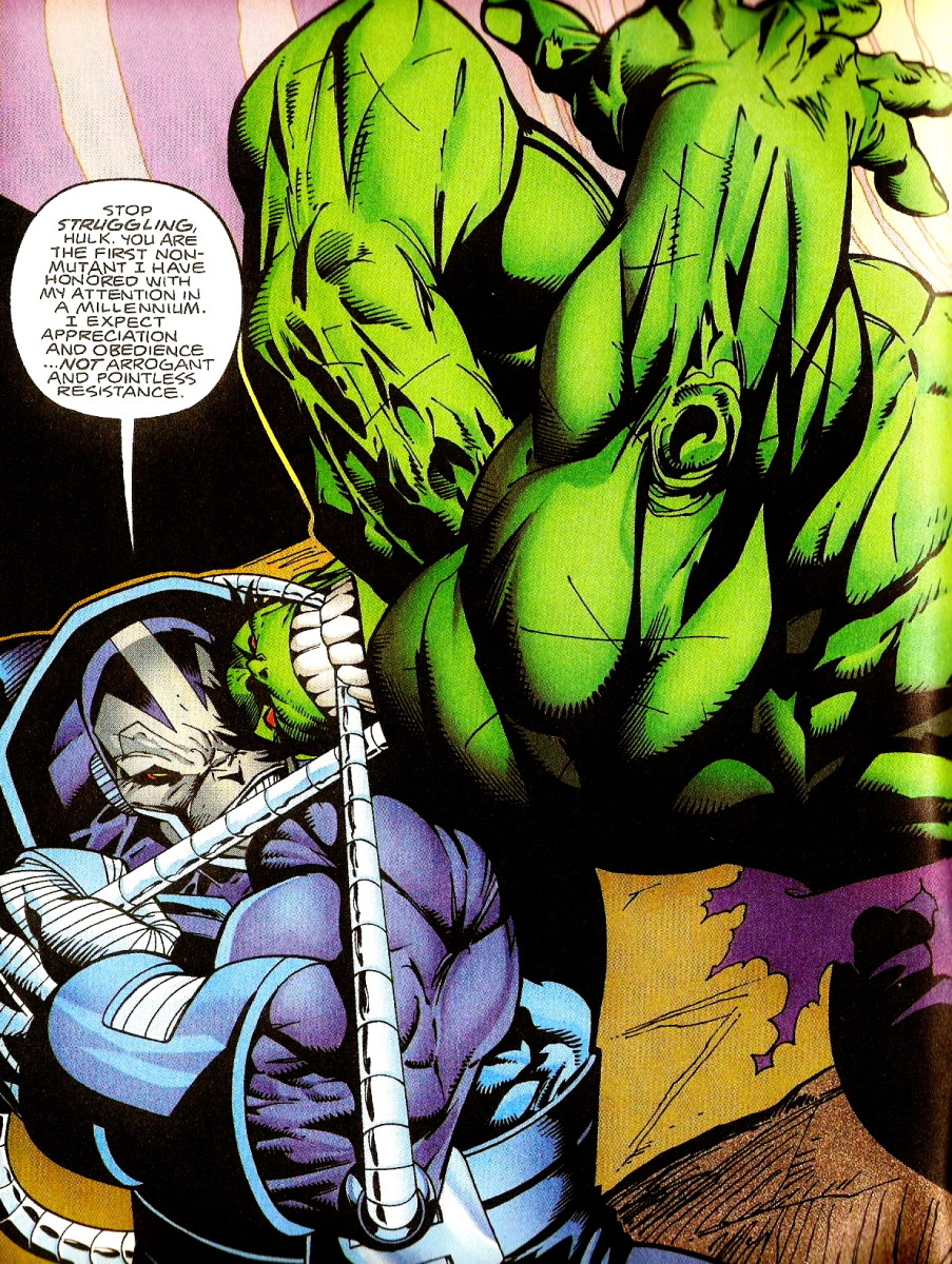 Apocalypse fighting the Hulk