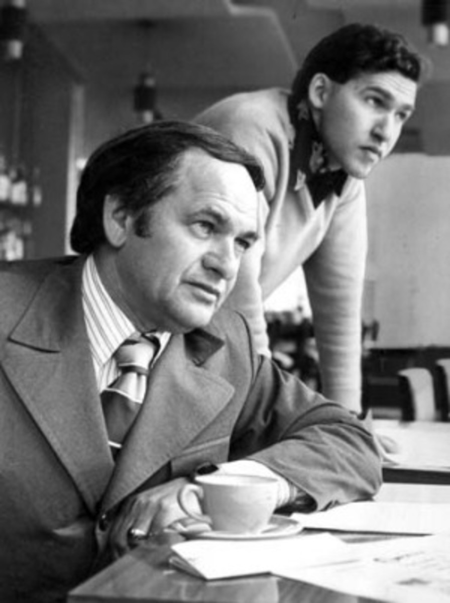 A young Alan Saffron with his father. Abe Saffron, one of Australia's biggest crime lords.