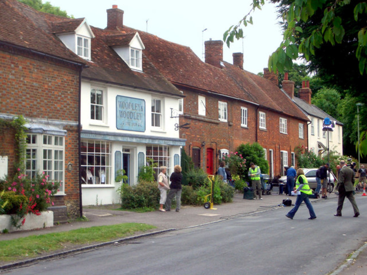 TV series Midsomer Murders uses many locations in the south Chilterns for scenes in the fictional Midsomer County.  licensed for reuse under  Creative Commons Licence.