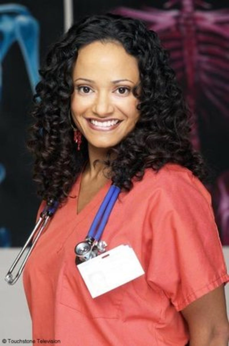 Judy Reyes during season 1 of Scrubs...