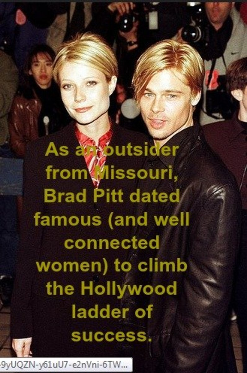 Brad Pitt -- like many celebrities -- keeps a high profile by dating and marrying other celebrities.