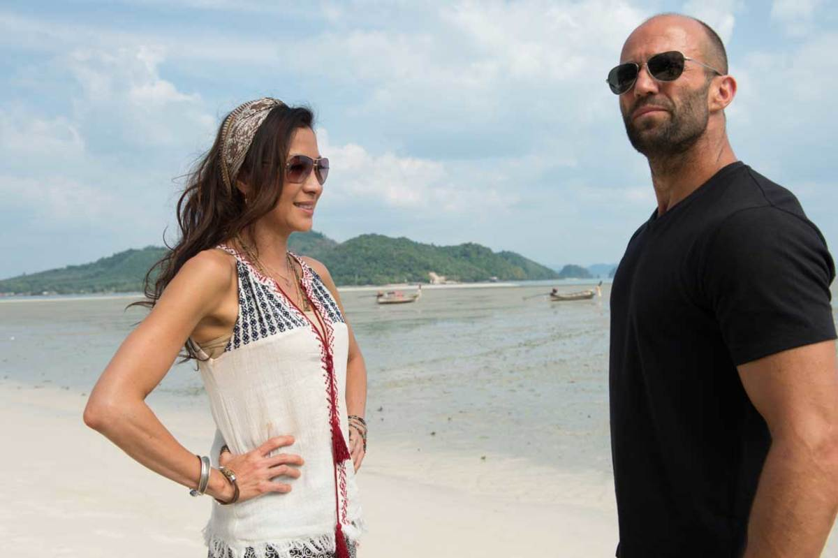 "Michelle Yeoh and Jason Statham in ""Mechanic: Resurrection."""
