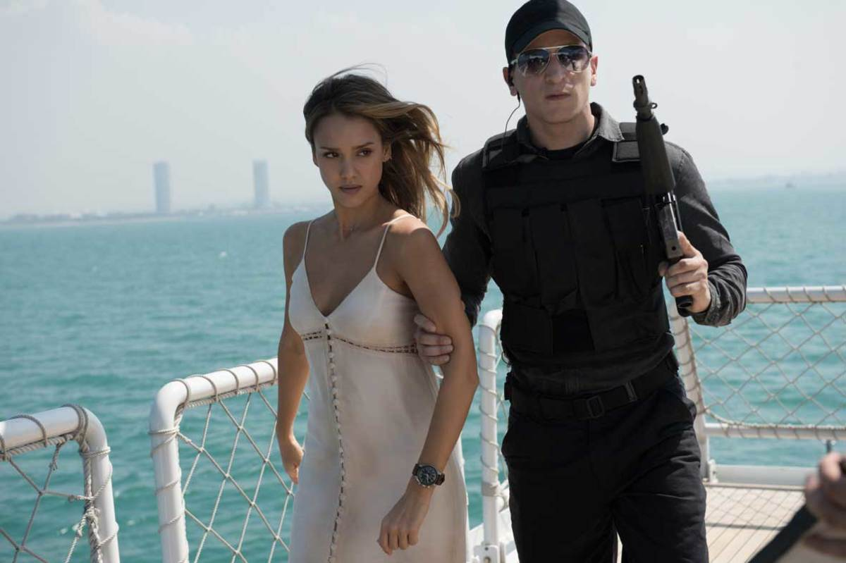 "Jessica Alba as Gina Thorne in ""Mechanic: Resurrection."""