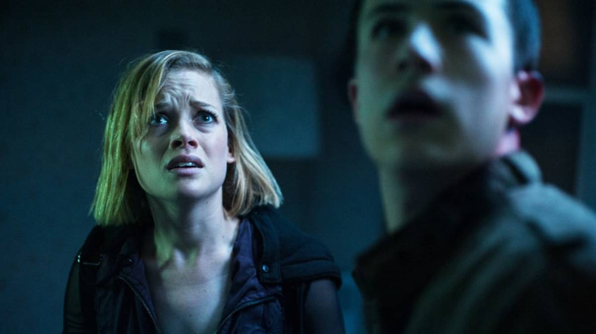 "Jane Levy and Dylan Minnette in ""Don't Breathe."""