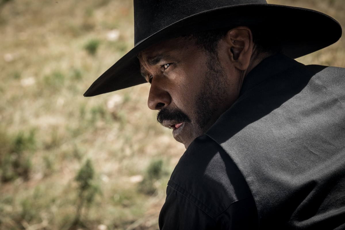 "Denzel Washington as Sam Chisolm in ""The Magnificent Seven."""