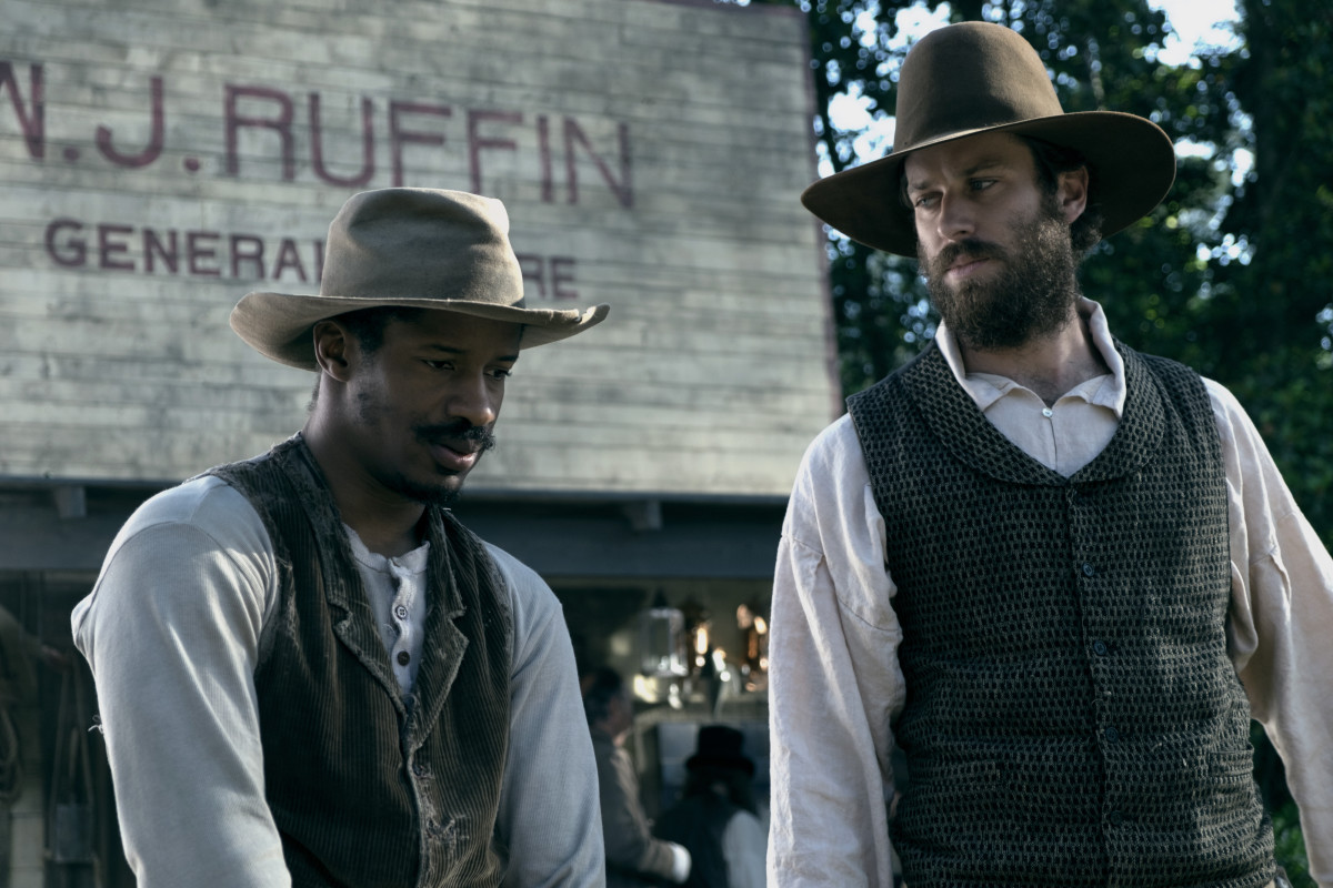 "Nate Parker and Armie Hammer in ""The Birth of a Nation."""