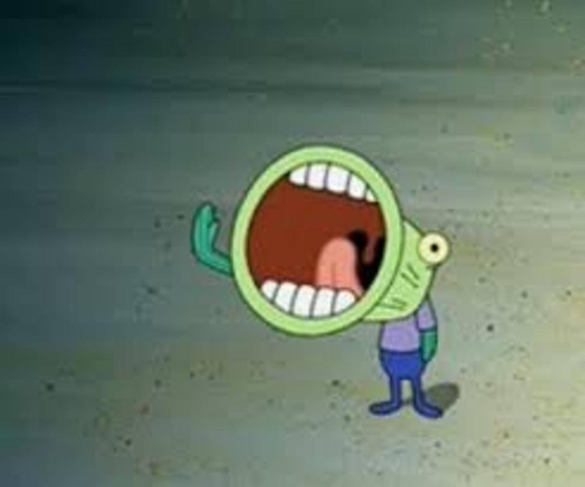 HOOPLA! (Possibly the most famous moment of the Krusty Krab Training Video)