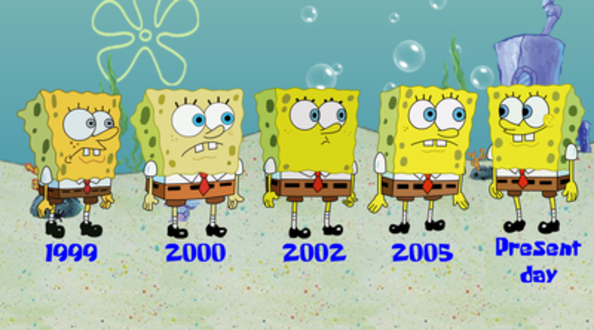 The animation of Spongebob has changed fairly significantly over the years.
