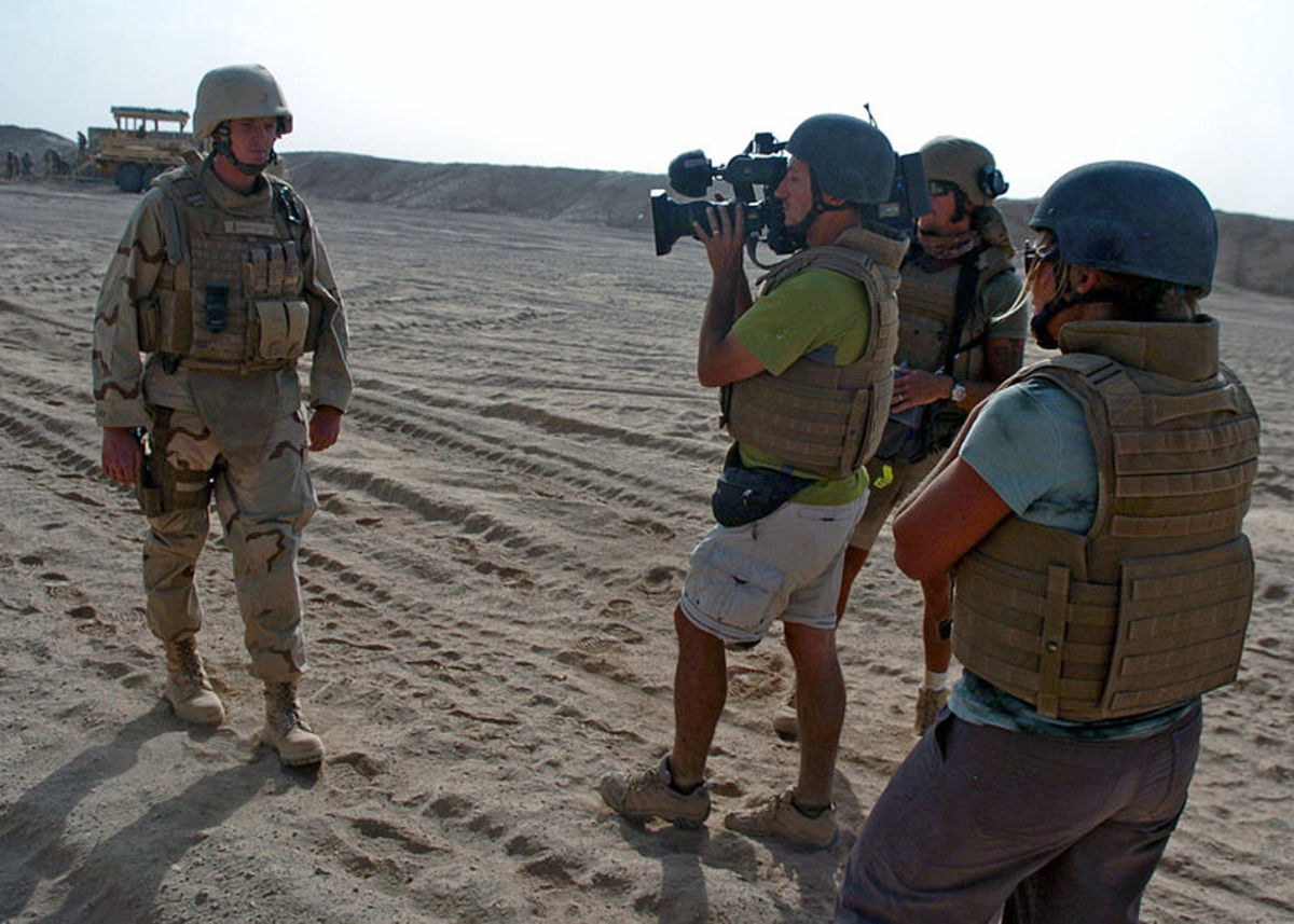 Filming the National Geographic Documentary about Camp Leatherneck,  a 1,600 acre Afghan Armed Forces base in Helmand Province, Afghanistan