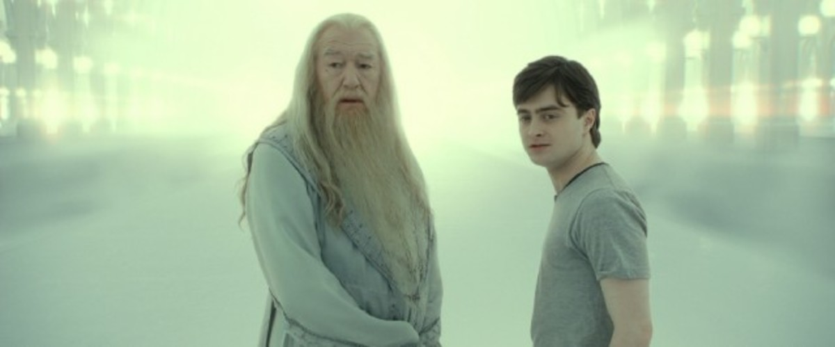 "Professor Dumbledore and Harry in ""Deathly Hallows, Part 2"""