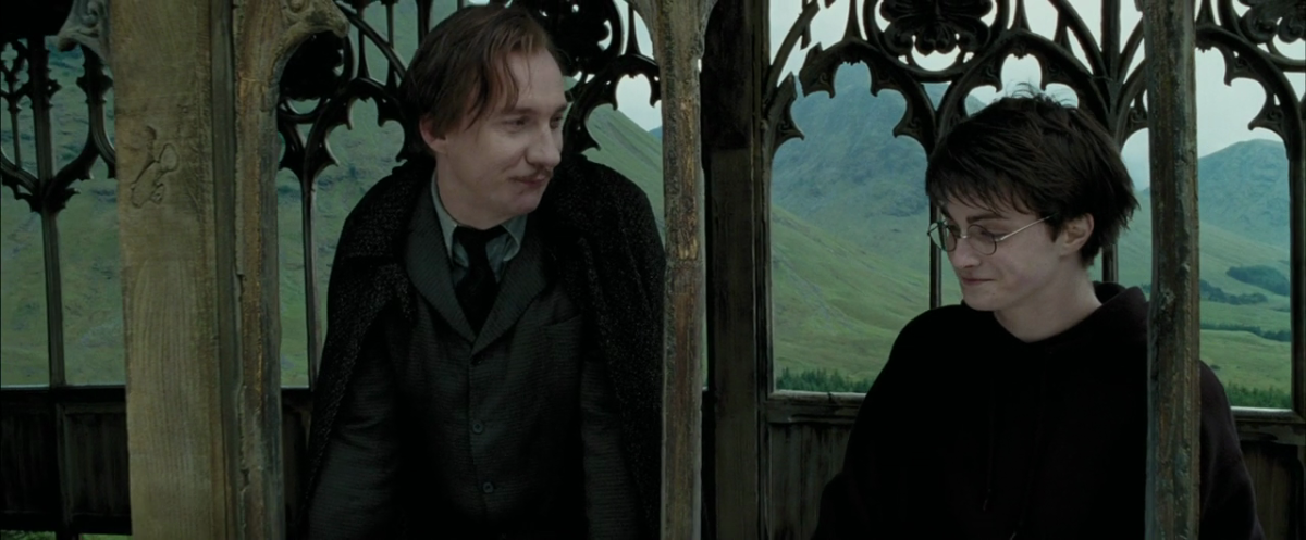 Professor Lupin and Harry talk about Harry's mother
