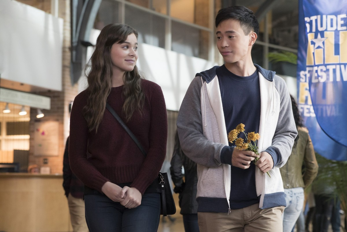 "Hailee Steinfeld and Hayden Szeto in ""The Edge of Seventeen."""
