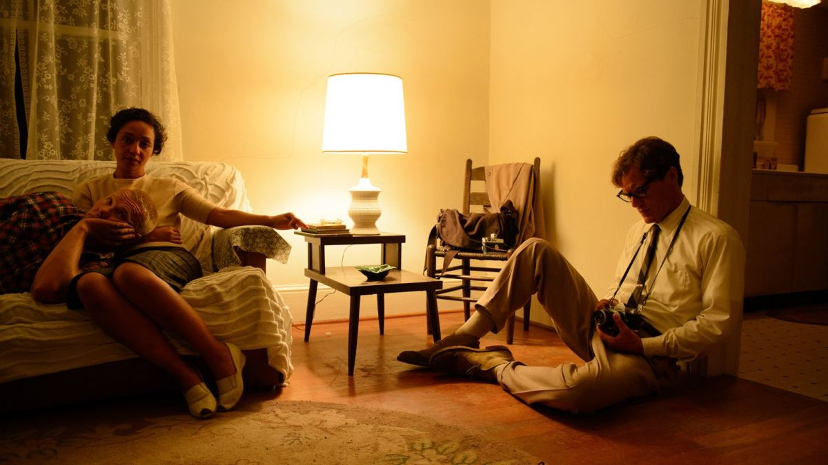 "Joel Edgerton, Ruth Negga, and Michael Shannon in ""Loving."""