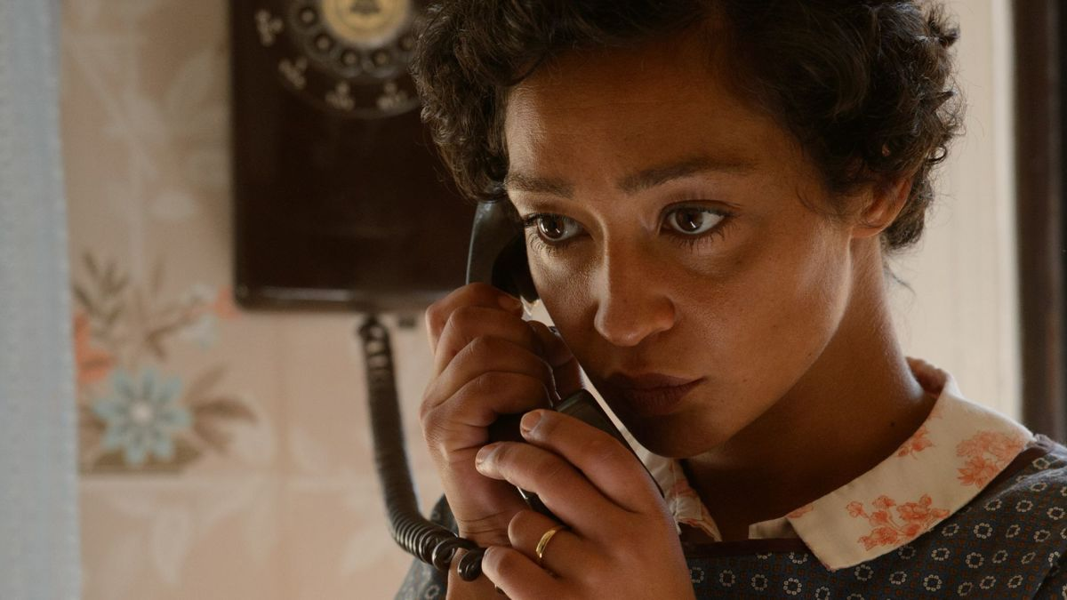 "Ruth Negga as Mildred Loving in ""Loving."""