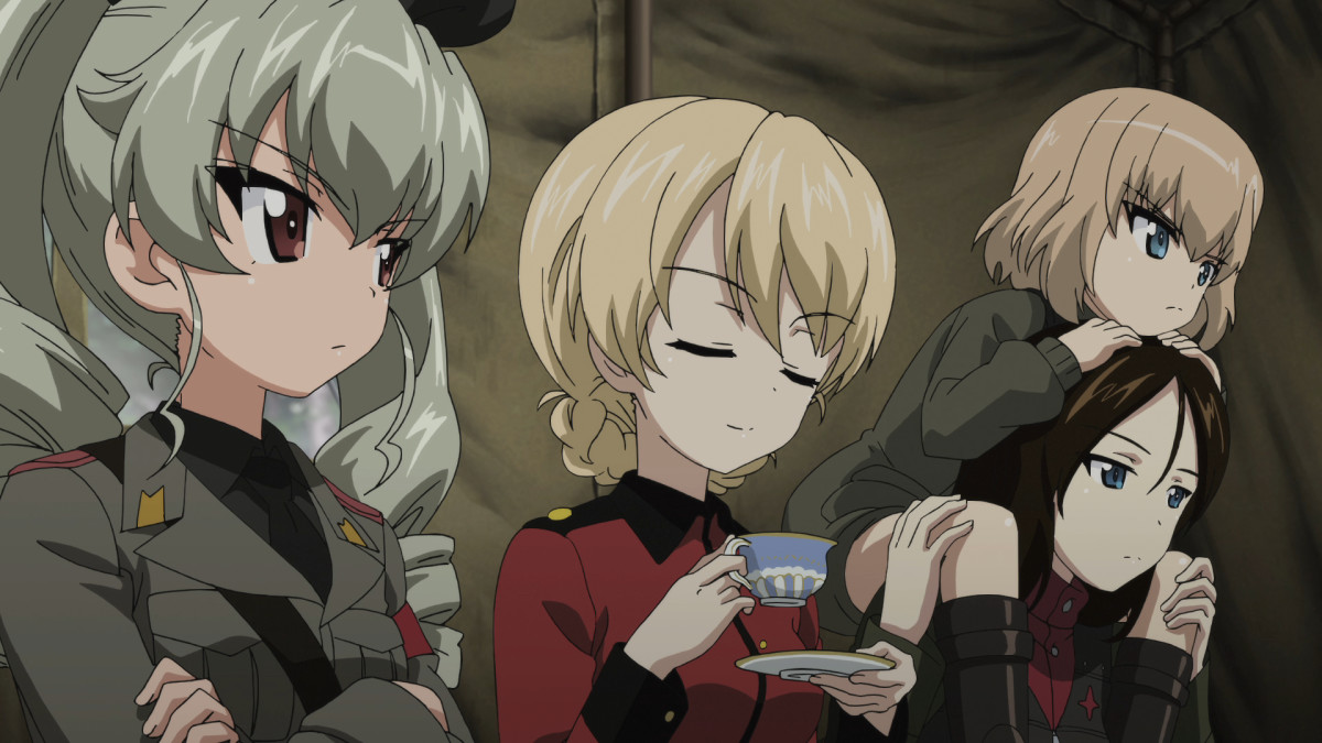 "A scene from director Tsutomu Mizushima's anime film ""Girls und Panzer der Film."""