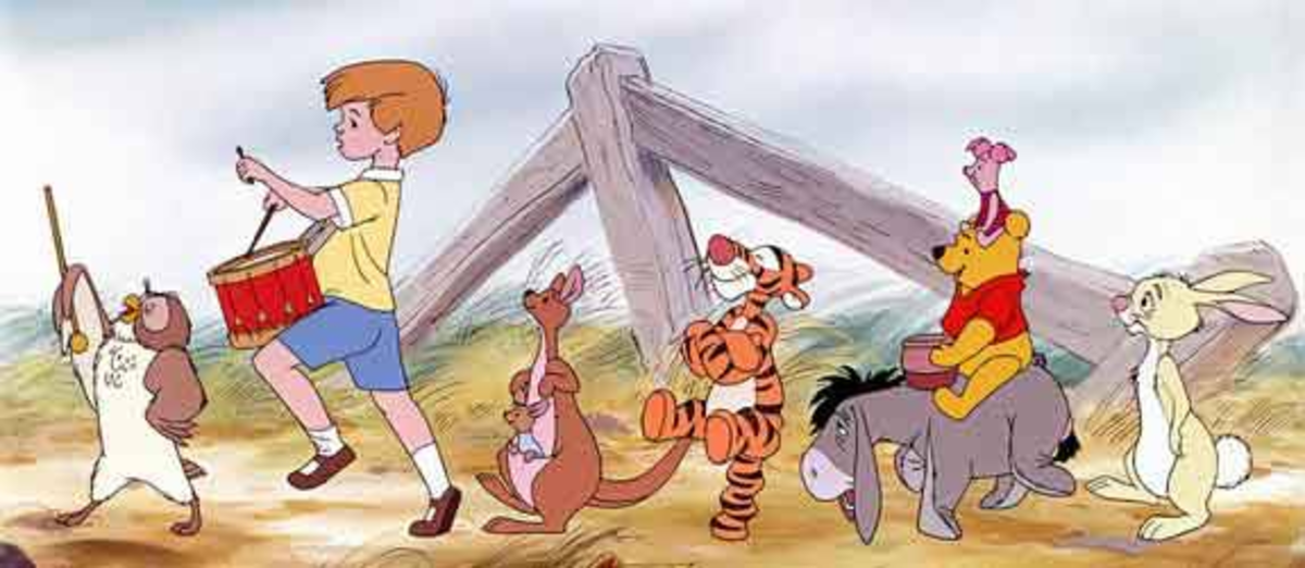 Gopher was originally created to replace Piglet. But, Piglet was reinstated in 1968, and is included in The Many Adventures of Winnie the Pooh (1977). The film is actually made up of 3 classic shorts with wrap-arounds of Pooh and Piglet in between.