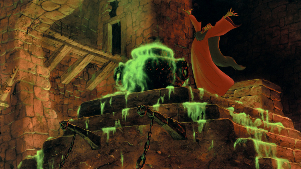 The Black Cauldron (1985) was the first Disney theatrical feature to receive a PG rating instead of a G rating. It almost received a PG-13 rating, but was edited twice to cut several of the darker scenes.