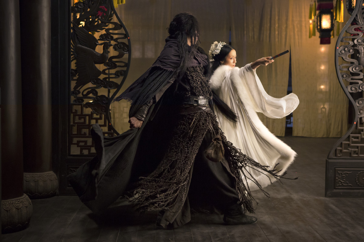 "Peter Ho and Jiang Yiyan in ""Sword Master."""