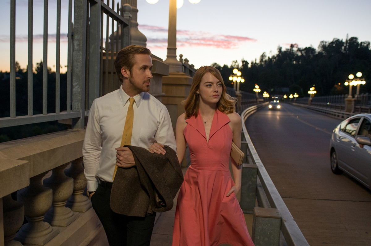 "Ryan Gosling and Emma Stone in ""La La Land."""
