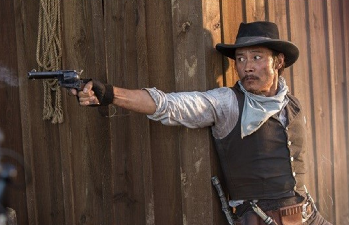 Lee Byung Hun in Magnificent Seven is a unique twist to the Asian action hero because of its historical context, placing, and the mixture of Asian knife fighting with western gun slinging.