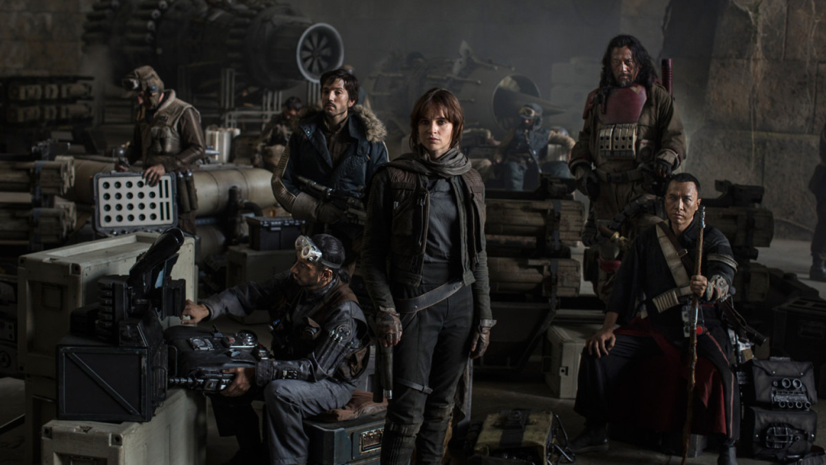 The characters of Rogue One: A Star Wars Story