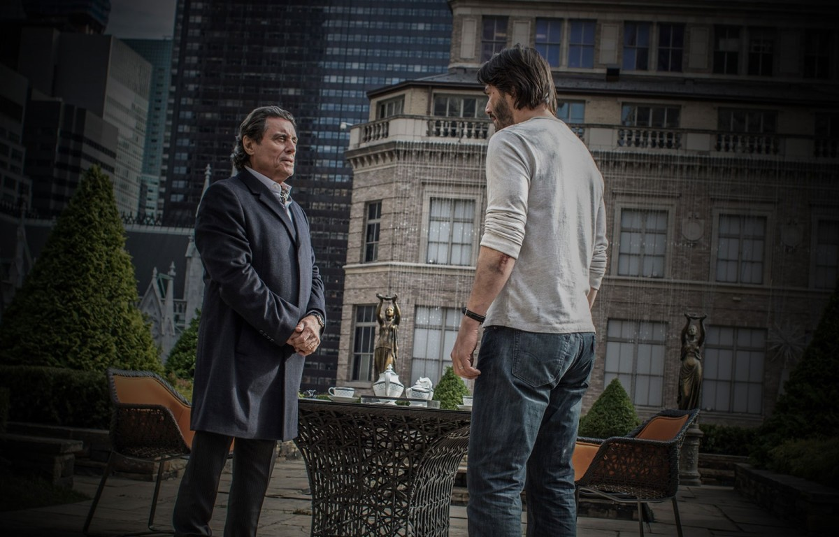 "Ian McShane and Keanu Reeves in, ""John Wick: Chapter 2."""