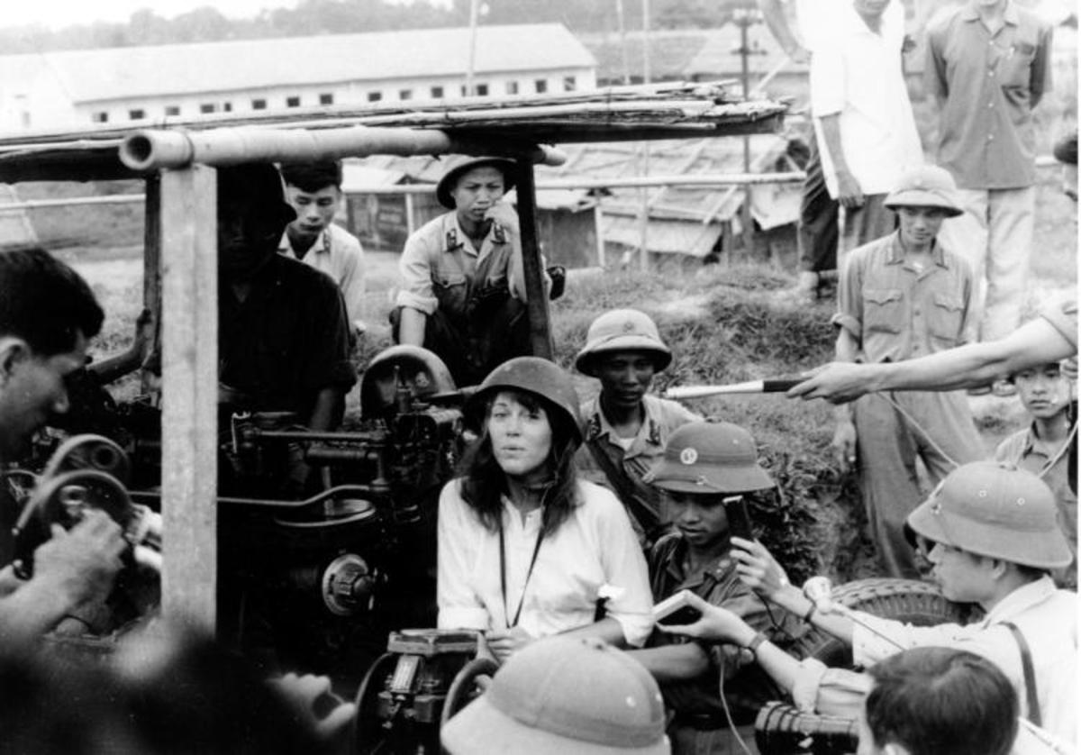 Actress Jane Fonda's 1972 trip to North Vietnam was an early example of a celebirty using their status to bring attention to causes they believe in.  However this also marked her by many as truly an enemy of the state despite her intentions.